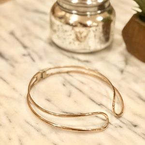 Topshop gold plated metal choker with clasp